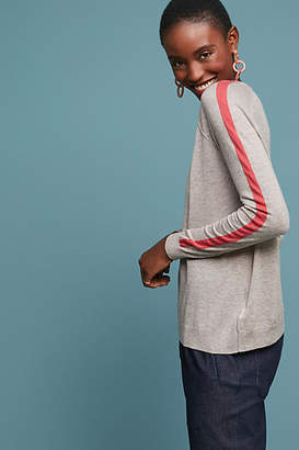 Velvet by Graham & Spencer Torie Striped-Sleeve Pullover