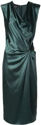 Narciso Rodriguez knotted-waist silk dress
