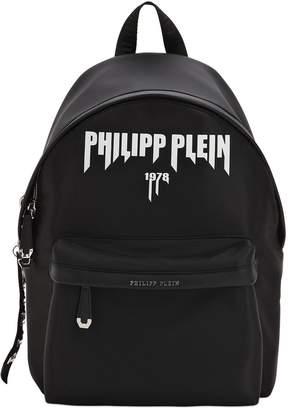 Philipp Plein Printed Logo Tech Backpack