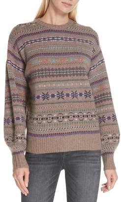 Polo Ralph Lauren Wool, Cashmere & Mohair Fair Isle Sweater