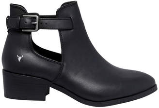 Windsor Smith Reina Black Leather Boot