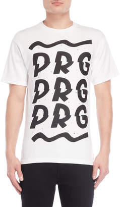 Planet Rock Graphics White Graphic Tee