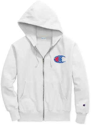 Champion Men's Reverse-Weave Logo Zip Hoodie