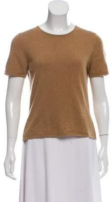 Oscar de la Renta Short Sleeve Cashmere Sweater