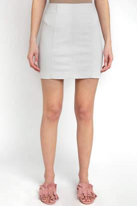 Free People Modern Femme Vertical Stripe Mini Skirt