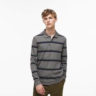 Lacoste Men's Regular Fit Striped Petit Pique Polo