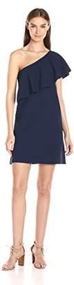 Milly Women's One Shoulder Flounce Dress