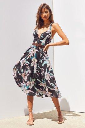 Kimchi Blue Bermuda Nights Hook + Loop Midi Dress $89 thestylecure.com
