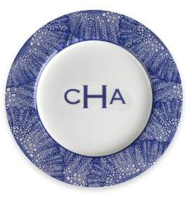 Caskata Personalized Sea Fan Blue Bread & Butter Plate