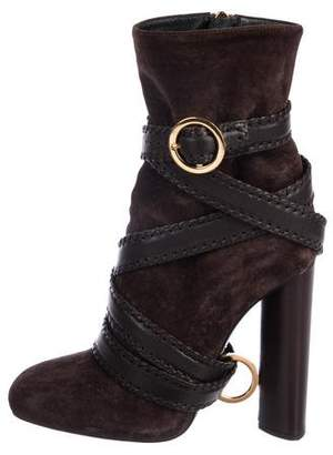 Tom Ford Suede Mid-Calf Boots