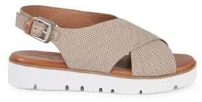 Gentle Souls Prisca Perforated Platform Walking Sandals
