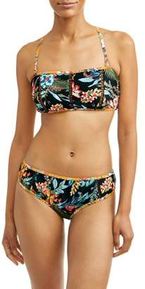 Time and Tru Women's Desert Bloom Bandeau Swimsuit Top