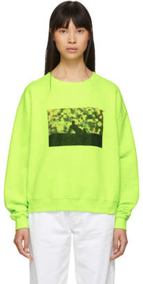 Off-White Yellow Flowers Sweatshirt