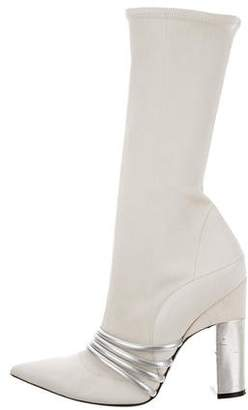 Prabal Gurung Leather Mid-Calf Boots