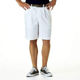 Haggar Men's Big and Tall Cool 18 Gabardine Pleat Front Short