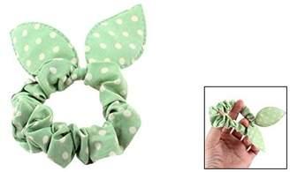 Uxcell Polka Dot Rabbit Ear Style Girls Band Ponytail Holder