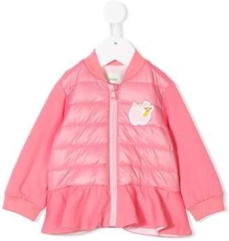 Fendi frill trim padded jacket
