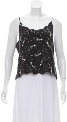 Kate Moss x Equipment Silk Sleeveless Top