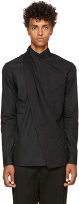 Balmain Black Draped Shirt