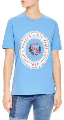Sandro Embroidered Graphic Tee