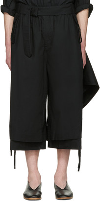 Craig Green Black Cotton Long Layered Shorts $510 thestylecure.com