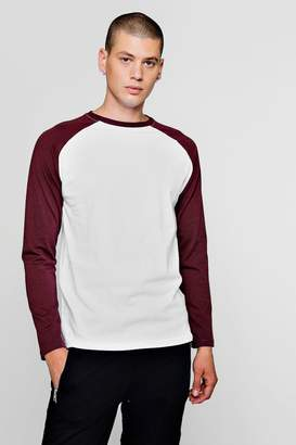 boohoo Long Sleeve Raglan T-Shirt