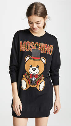 cde49028bdd Moschino Top Hat Bear Sweatshirt Dress