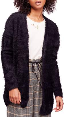 Free People Faux Fur Cardigan