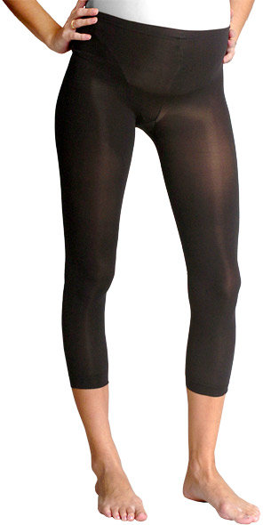 Opaque Black Footless Tights