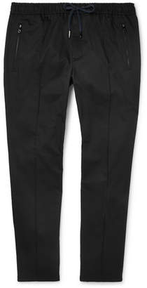 Dolce & Gabbana Slim-Fit Tapered Stretch-Cotton Drawstring Trousers - Men - Navy