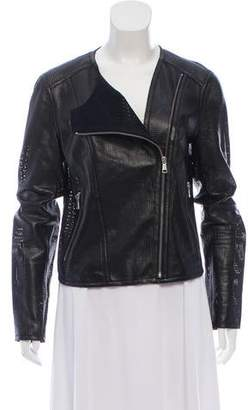 Andrew Marc Faux Leather Moto Jacket