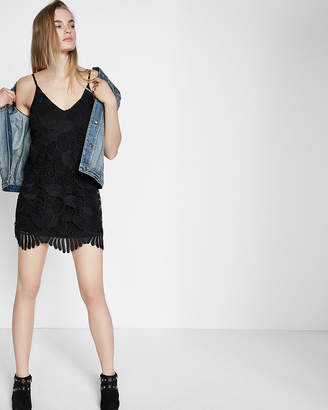 Express Crochet Lace Trapeze Dress