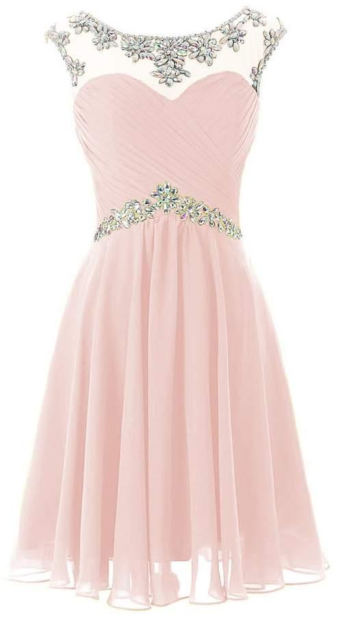 CoutureBridal®Short Bridesmaid Dress ,Chiffon Cocktail Dress