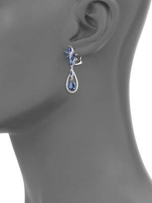 Effy 14K White Gold, Sapphire & Diamond Drop Earrings