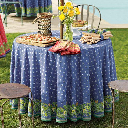 Provence Tablecloths, Azure Blue