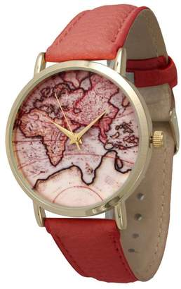 Olivia Pratt Women's Traveler's Leather Watch