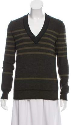Sonia Rykiel Patterned Rib Knit Sweater