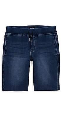 Hudson Jeans Boy's Knit Denim Pull-On Shorts