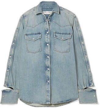 Valentino Cutout Denim Shirt - Mid denim