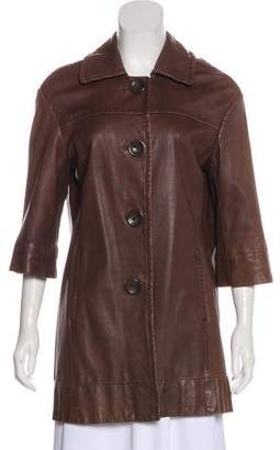 Vince Short Leather Coat