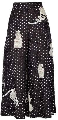 Loewe X Paula's Ibiza Printed Linen Culottes