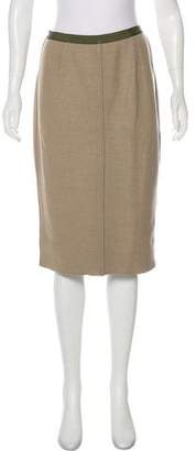 Lela Rose Cashmere Knee-Length Skirt