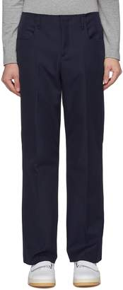 Acne Studios Raw edge creased boot cut twill pants