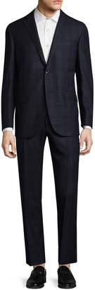 Corneliani Wool Plaid Suit