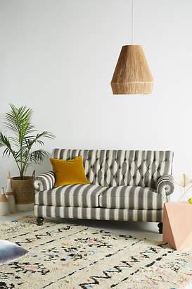 Anthropologie Suren-Striped Fan Pleat Sofa