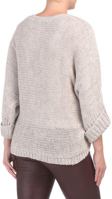 Made In Italy Slouchy Sleeve Poncho