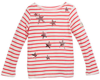 Joules Harbour Stripe Top w/ Sequin Stars, Size 3-12