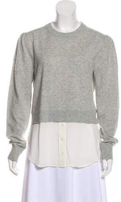 Veronica Beard Silk-Trimmed Cashmere Sweater