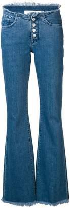 Marques Almeida Marques'almeida button-up flared jeans