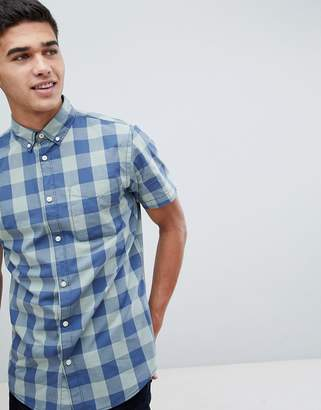 Jack and Jones Originals Short Sleeve Shirt In Block Check